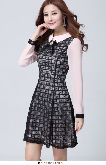 Good Price Fashion Design Long Sleeve Chiffon Clothes for Women pictures & photos