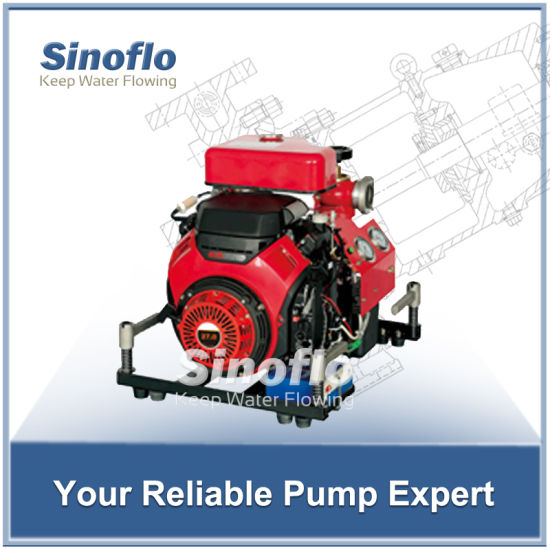 27hp honda portable gasoline engine self-priming fire pump with single stage