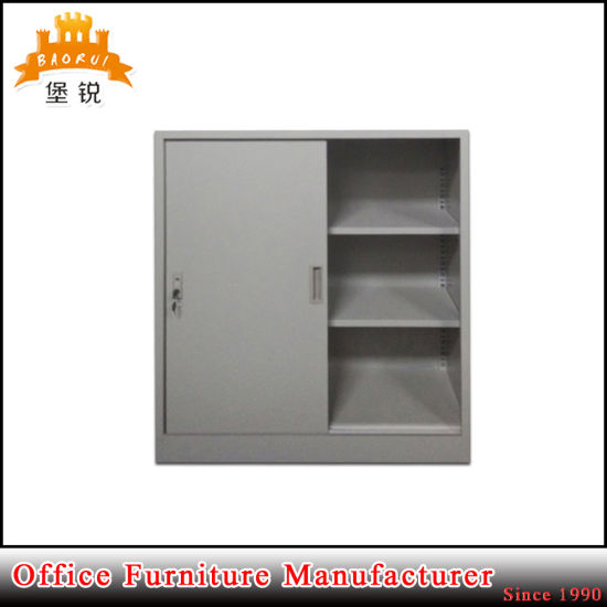 2 Sliding Door Steel Furniture Office Cupboard Metal Cabinet pictures & photos