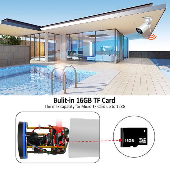 Sony 1/3 1080P CMOS 4X Zoom Huawei DSP Chip Aluminum Bullet IP Camera