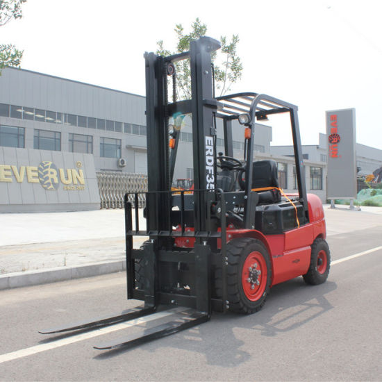 China Chinese New Buy Everun Erdf35 3.5ton Wood Industry Construction Machinery Home Farm Garden Mini Front Diesel Small Manual Smart Forklift Truck with Parts