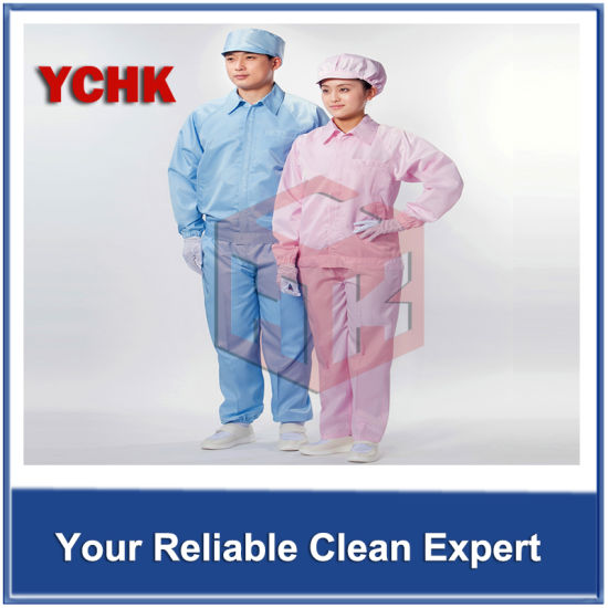 Durable Cleanroom ESD Coverall( ESD fabric) Garments Used in 100 Class Cleanroom