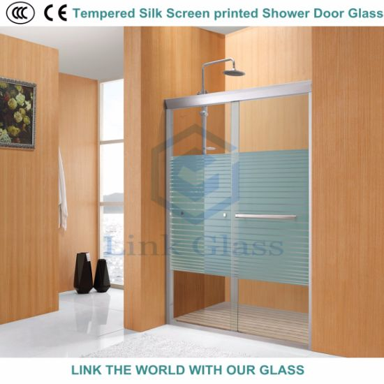 3-12mm Tempered Silk Screen Printing Glass for Shower Door  sc 1 st  Qingdao Link Glass Co. Ltd. & China 3-12mm Tempered Silk Screen Printing Glass for Shower Door ...