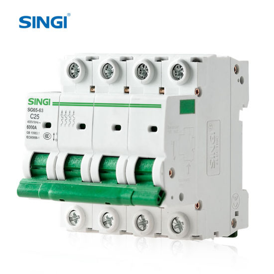230V AC 50/60Hz CE and CB Approval 6ka Miniature Circuit Breaker MCB