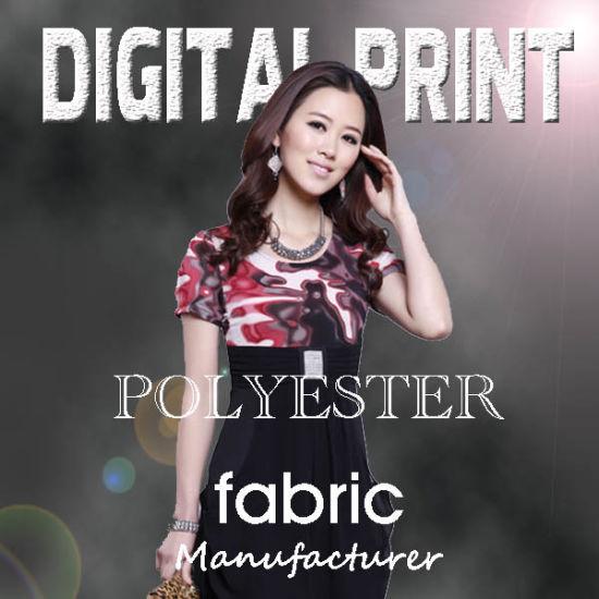 100% Polyester Digital Printed Textile