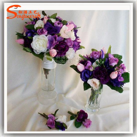 China Best Price Artificial Flower Wedding Bouquet Plastic Flower