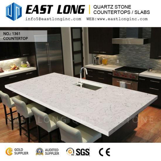 Beautiful Carrara White Quartz Stone For Engineered Countertops