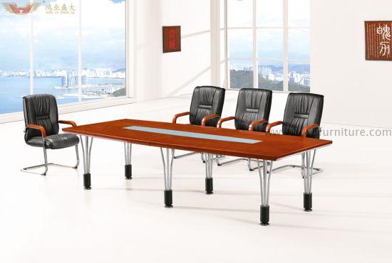 China Modern Wood Veneer Meeting Table For Conference Room China - Wood veneer conference table