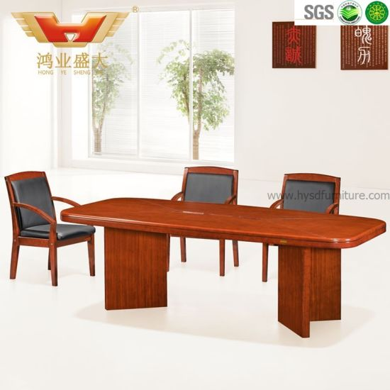 Solid Wood Desk, Conference Desk, High Top Meeting Table (HY-A7538) pictures & photos