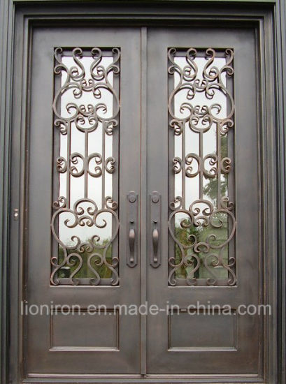China Top Selling Front Wrought Iron Doors New Types Entry Doors