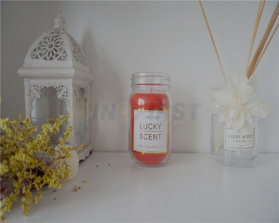 China Luxury Wedding Favors Glass Jar Scented Soy Candle China