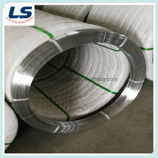 High Carbon Steel Galvanized Oval Wire 2.4X3.0mm