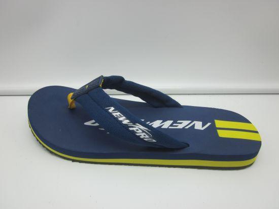 Wholesale Design Slippers PU Flip Flops Beach Shoes for Men