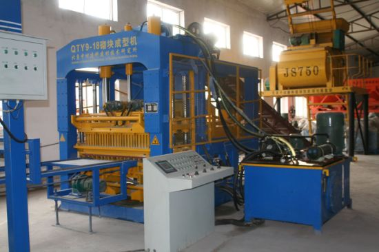 Full Automatic Qty9-18 Hydraulic Concrete Hollow Block Making Machine pictures & photos