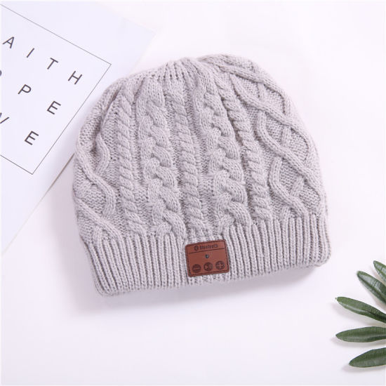 f747370a9db Wireless Bluetooth Beanie Hat Knit with Headphone Winter Cap Built-in  Stereo Speakers