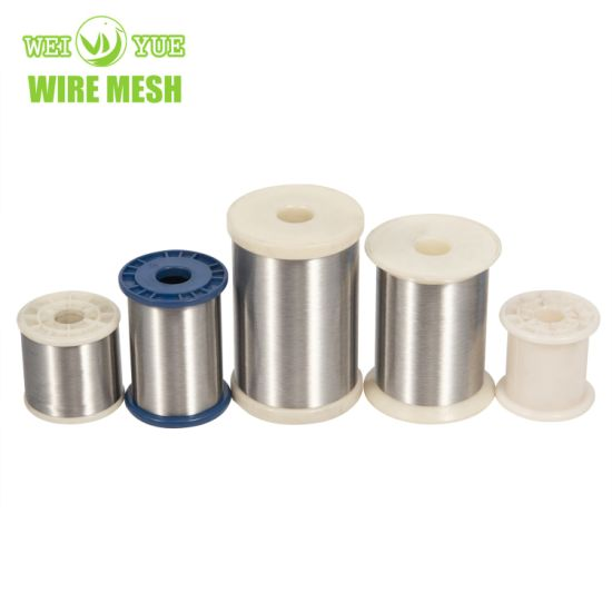 Ultra Thin 316L 0.035 mm Bright Annealed Stainless Steel Weaving Wires Thread Used for Cut Resistant Gloves