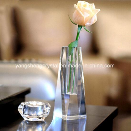 China High Quality Beautiful Crystal Vase For Wedding Decoration
