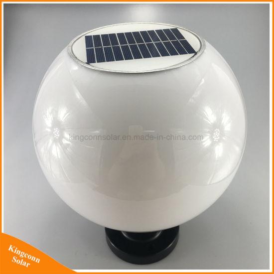 44c9c0bf0 China Round Ball Solar Pillar Lamp Outdoor LED Garden Post Light ...