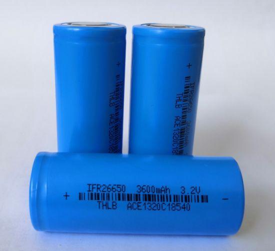 26650-3.2-3600 LiFePO4 Lithium-Ion Battery Deep Cycle 3.2V 3600mAh