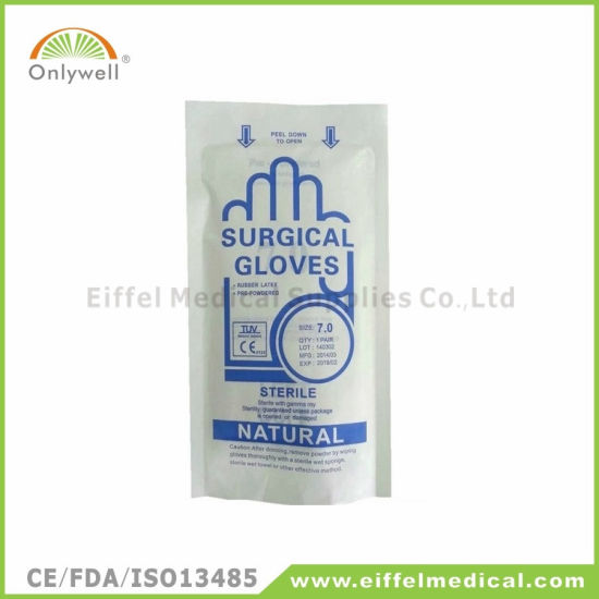 Medical Disposable Powder Free Latex Examination Gloves pictures & photos