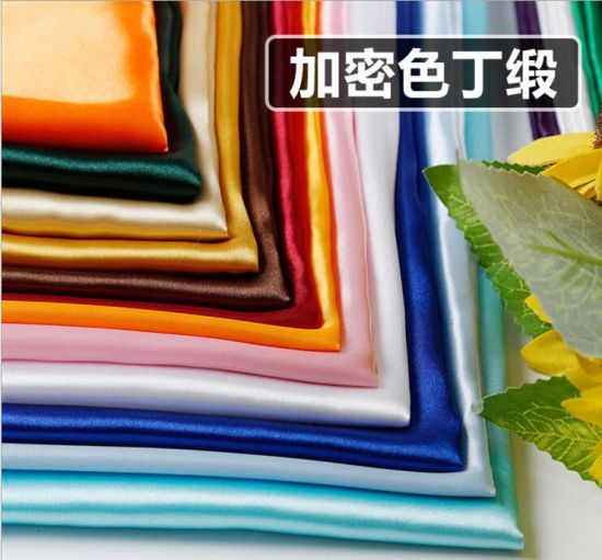 115G/M, Polyester Bright Satin Fabric, Imitation Silk Fabric pictures & photos