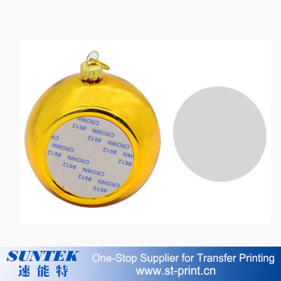 graphic regarding Printable Christmas Ornaments named Sublimation Printable Xmas Ornaments Spherical Plastic Xmas Ball