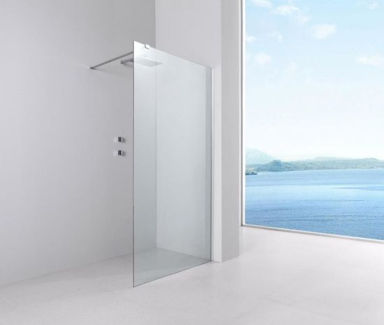 China Aluminum Frame 6mm Safety Glass Bathroom Shower Door Walk In