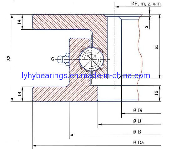 Torriani Four Point Contact Ball Slewing Ring Slewing Ring Bearing