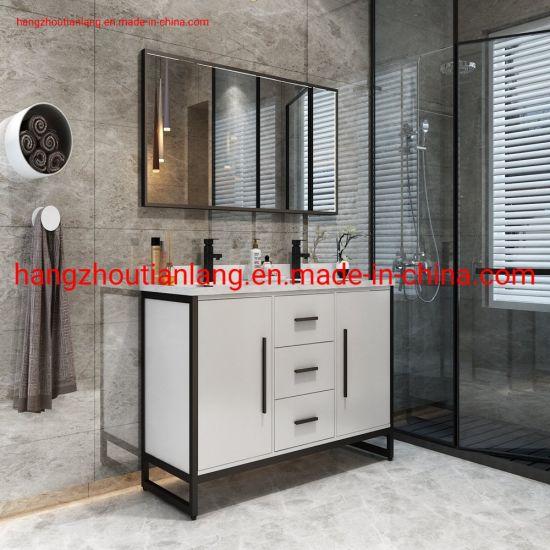 Big Size 180cm Stainless Steel Modern Hotel Marble Bathroom Cabinet