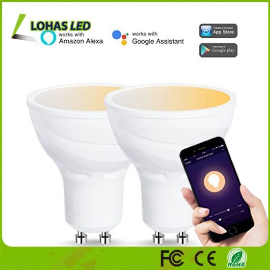 5W GU10 LED Light Bulb Amazon Alexa Voice Controlled WiFi Smart Light Bulb