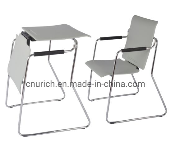 U-N5007 Multifunction Office Training Chairs Dual-Purpose Plastic-Steel Convertible Meeting Tables Chairs