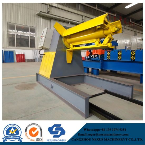 China Hydraulic Auotmatic Decoiler Roll Form Press Machine