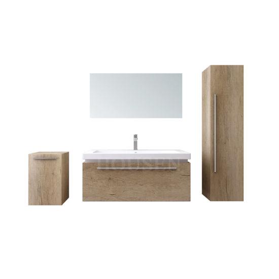 Modern Class New Design Wood Bathroom Bathroom Cabinet Vanity with LED Mirror