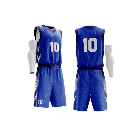 Large Size Custom 100% Polyester Basketball Uniform Jersey Affordable