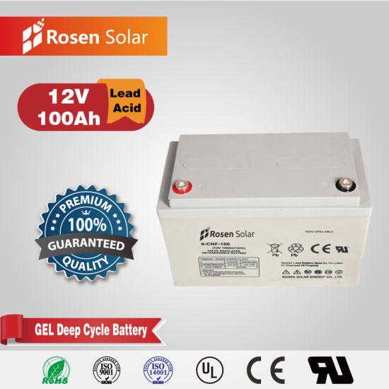 Solar Lead Acid Accumulator 12V 100ah Gel Batteries for Electric Forklift