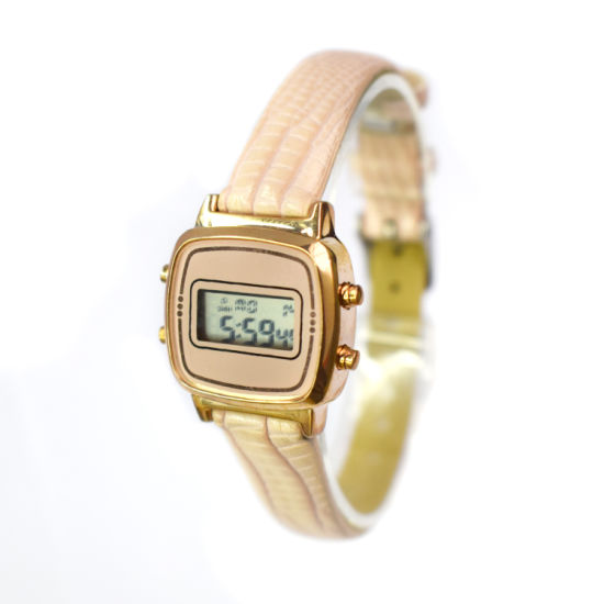 Luxury Snake Leather Strap Own Logo LED Alarm Watch (cm19051)
