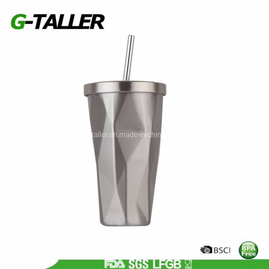 Travel Coffee Cup with Straw