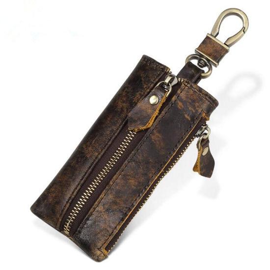 Vintage Keychain Wallet Genuine Leather Car Key Case