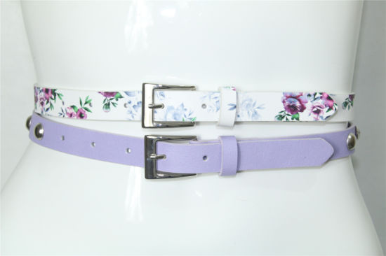 Fashion 2 for 1 Women′s PU Flower Belts pictures & photos