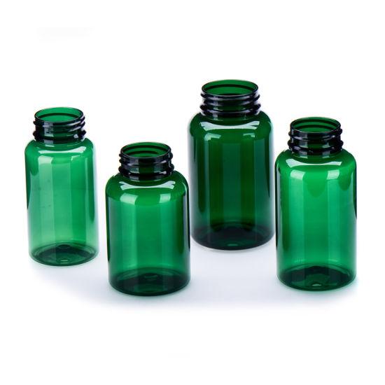 Pet 200cc 300cc 400cc 500cc Amber Food Bottle Empty Pharmaceutical Plastic Condiment Vitamin Bottle with Tear Cap