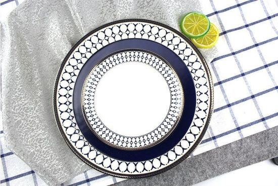 Banquet Wood Dinner Plate, Ceramic Bone China Plate Set pictures & photos
