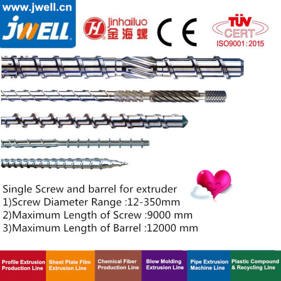 Jwell -Single Screw and Barrel for Blow|Film|Sheet|Plate|Pipe Product Extrusion Chemical Fiber|Recycling and Pelletizing|Cable Extrusion Machine