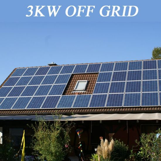 China Complete off Grid Solar Panel Power System 3kw for Home