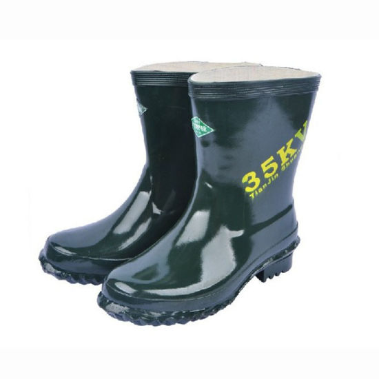 Safety Work Shoes Insulated Rain Boots Rubber Boots for Sale