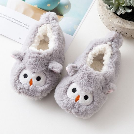 Baby Slippers Animal Cartoon Shoes For Newborn Infant Warm Plush Sandals Slipper