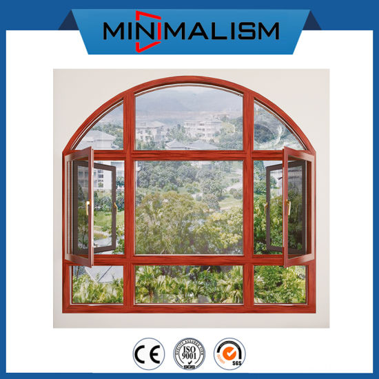 Waterproof Aluminum Arch Window with Double Clear Glazing