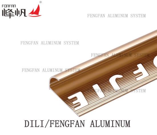 Aluminum Round Edge Trim For Ceramic Tile