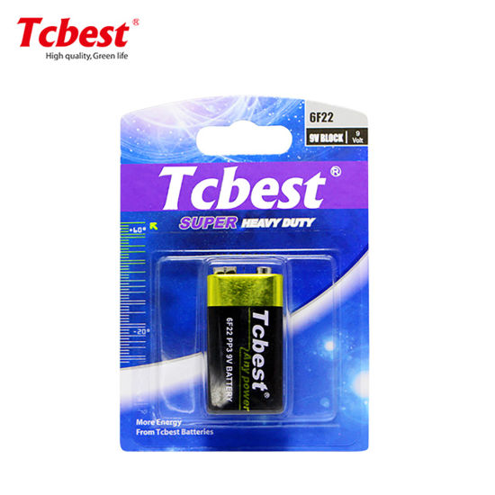 Super Heavy Duty Dry 6f22 9V 240mins Battery High Quality OEM Non-Rechargeable Battery