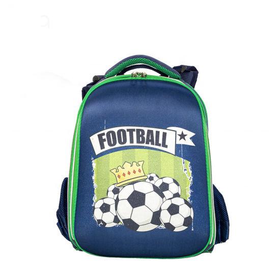 China Disney Certificated Large Capacity Kids Soccer EVA School Bag Hard Shape Leisure Backpack Bag for Teenagers Boys