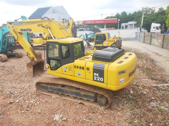 Used Good Working Condition Komatsu 22 Ton Excavator PC220-7 with 1 Year Warranty, Crawler Digger PC200 PC220 PC240 on Sale